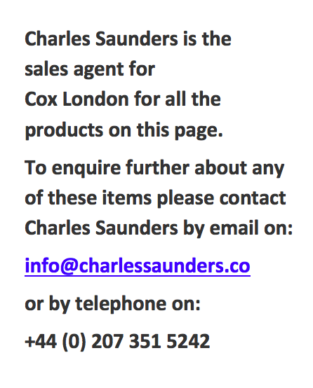 Charles Saunders Agent for Cox London