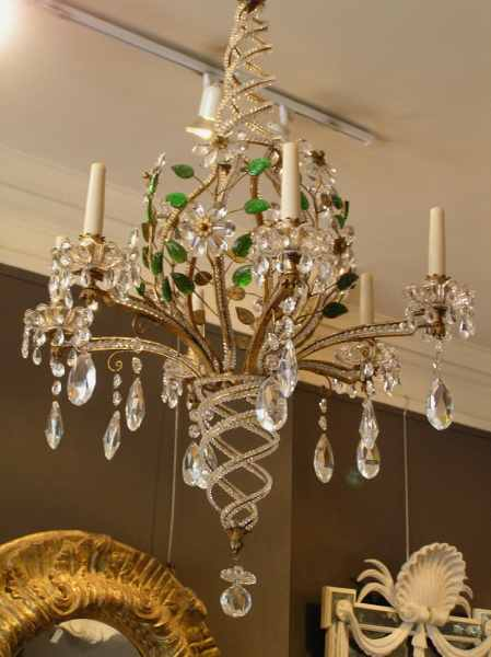 Bagues style spiral chandelier.