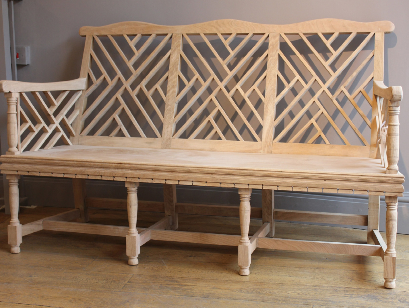 Lutyens style three seater garden bench
