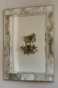 F369 Mirror with sectional mirror glass panelled frame