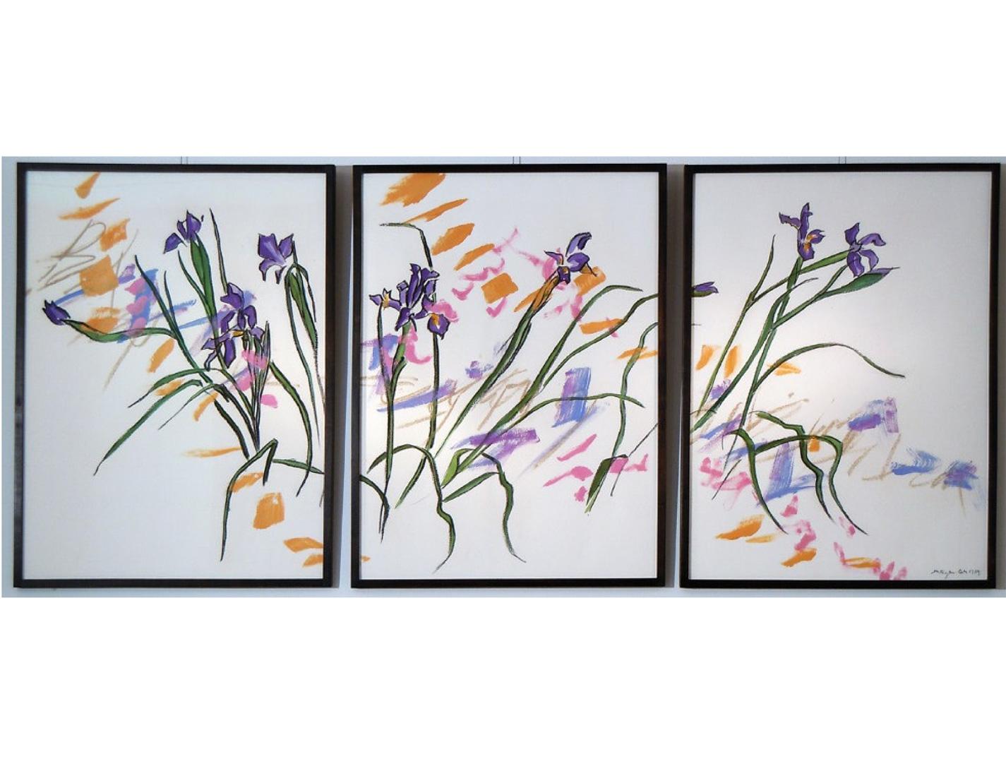 No. 8 – Iris Triptych v.2