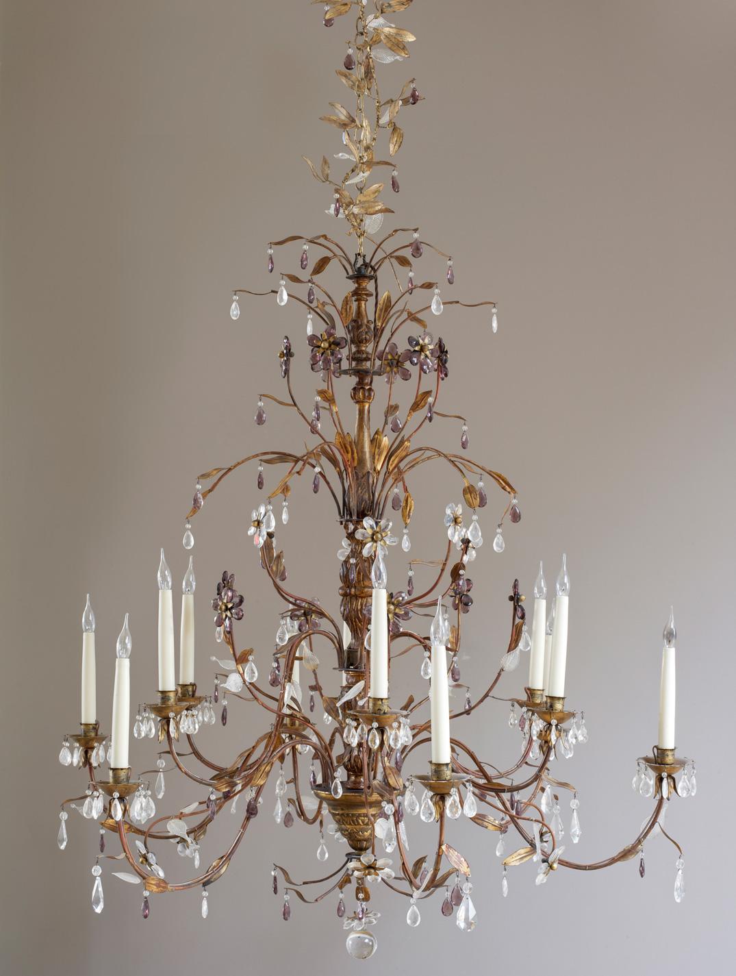 Genoese style chandelier.