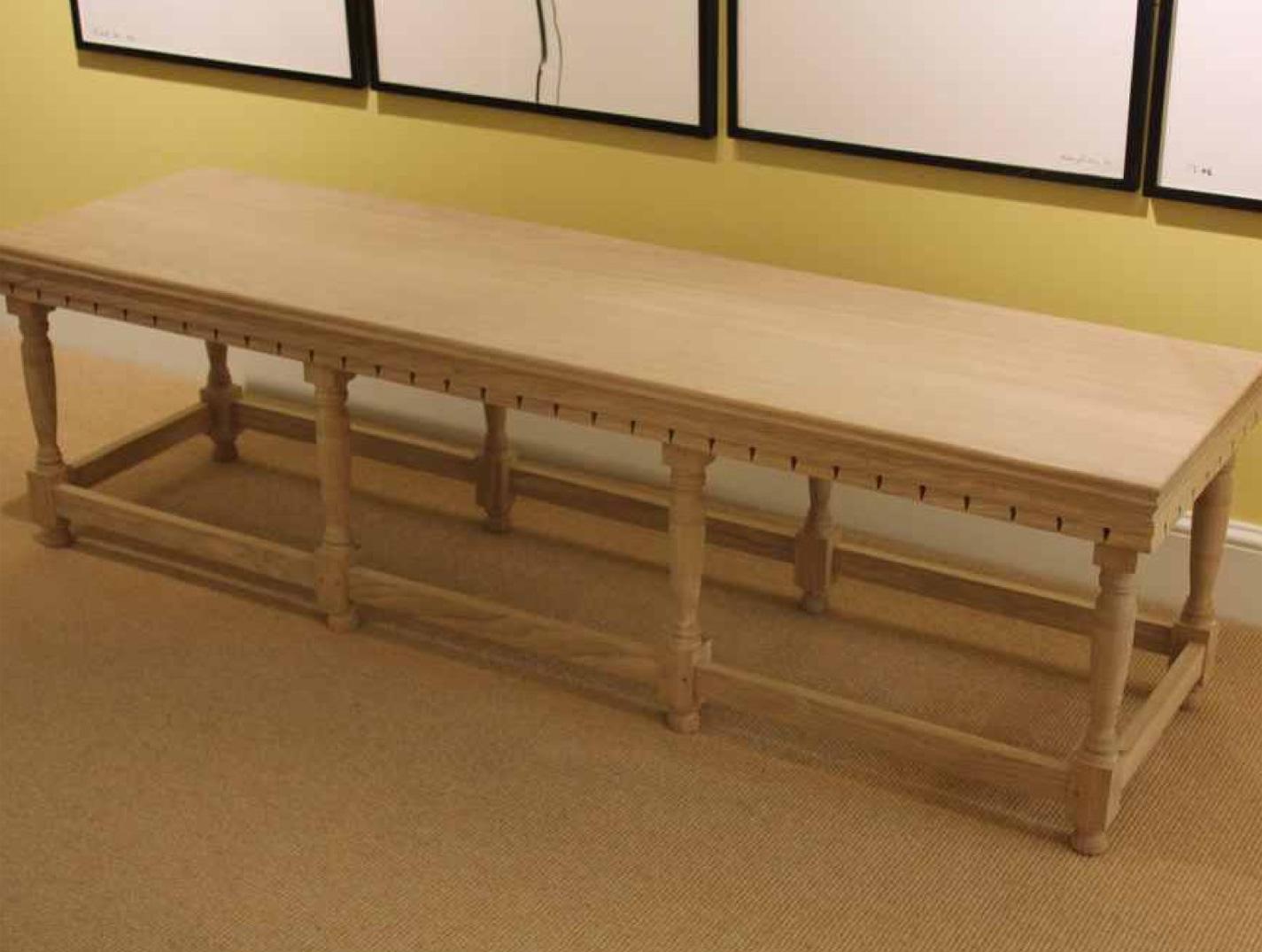 Lutyens style oak garden bench