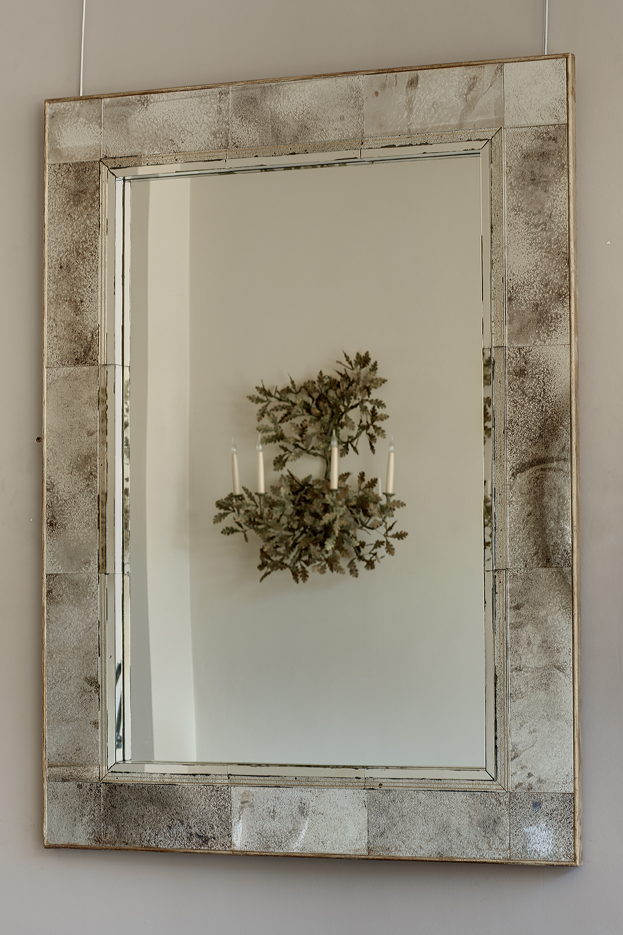 Sectional panelled mirror.